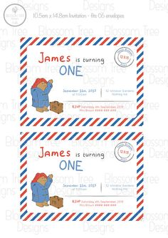 Paddington Bear Inspired Printable Party by BlossomTreeDesigns