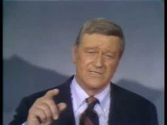 John Wayne`s --- God Bless America!  Let's sing this again with a heart of gratitude!  Sing Everyone, Sing! God Bless America!