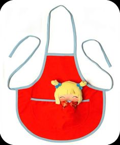 Asako children Apron.  Material: 65% polyester 35% cotton.  Size:1 to 5 years old.  $15.75 approx.