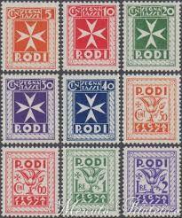 Resultado de imagen para francobolli poste italiane rodi