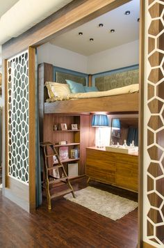 Custom Walls, Built-In Bed and Bookshelf for Lauri Howell Designs seen @ Dwell On Design Met Lofts Showcase
