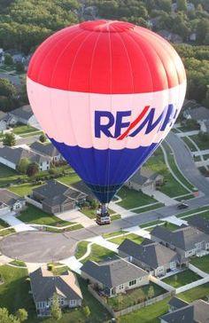 RE/MAX Hot Air Balloon in Topeka for the 37th annual Huff'n Puff Hot Air Balloon Rally.  #remaxballoon