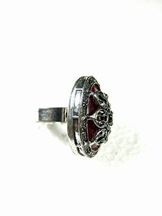 Gift for Her, Ruby Stone Oval Shape Silver Tone Adjustable Ring Evening Cocktail Fashion Jewelry Mogul Interior http://www.amazon.com/dp/B00Q9TEWJ6/ref=cm_sw_r_pi_dp_w0fEub03BRYAZ