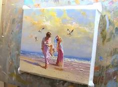 Breezy Day - Beach Speed Painting By Robert Hagan - Video Lessons of Drawing & Painting
