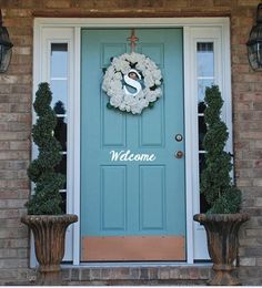 Personalized Welcome Vinyl Decal For Your Front Door. This listing is for vinyl door decal. Approximately 12x6 inches. This vinyl decal will make you the envy of the neighborhood! Great gift for house