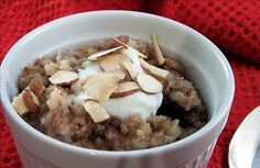 Quinoa and Barley Breakfast Porridge - easy hot cereal, healthy, grains, lower gi carbs, spices, fruit, various options, frugal. can also be made in the slow cooker and reheated for multiple meals. lj