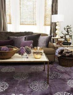 Lila Wohnzimmer Teppiche #teppiche #wohnzimmer