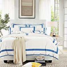 I love this blue with bright white -  its so refreshing.