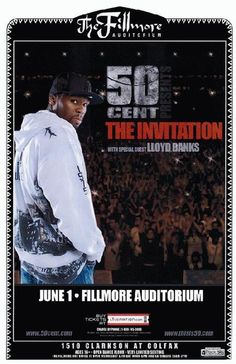 Concert poster for 50 Cent at The Fillmore Auditorium in Denver, CO  in 2010.  11