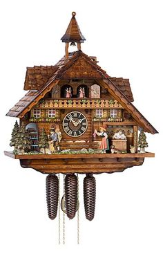 Cuckoo Clock 8-day-movement Chalet-Style 55cm by Hönes - 86206T