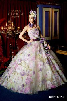 purple and green Wedding Dress Patterns, Wedding Dress Styles, Beautiful Costumes, Beautiful Gowns, Elegant Dresses, Pretty Dresses, Crazy Dresses, Fairytale Dress, Fairytale Fashion