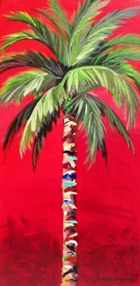 I love palm trees....paintings of palmtrees | Kristen Abrahamson - Contemporary Fine Art: ORIGINALS:
