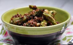 Salade printanière de quinoa rouge aux pointes d'asperge sur Cuisine saine