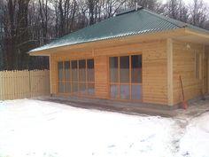 Соломенный дом под Винницей. www.biohouse.com.ua Благодаря прекрасным теплоизоляционным свойствам соломы зимой в -20 -25°С градусов мороза при 0,9 кВт обогревателе температура в доме не опустилась ниже +8°.
