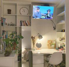 January 16 2020 at Study Room Decor, Cute Room Decor, Room Setup, Room Design Bedroom, Room Ideas Bedroom, Bedroom Decor, Bedroom Inspo, Minimalist Room, Pretty Room