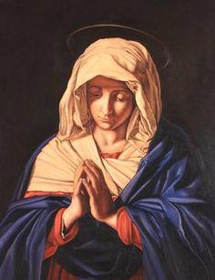 """Saatchi Art Artist Antonio Ramirez; Painting, """"Virgen en Oración"""" #art"""