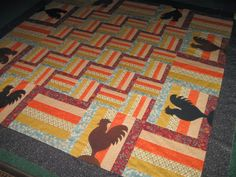 Stampin' on the Prairie: All Fowled up Quilt top finished