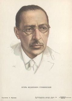 Igor Stravinsky...like a 3 russian bogatyrs:) Stravinsky,Kandinsky and Rahmaninov...they could be a brothers in a sence of how similar is a tipe and usage of a talente,imigrant too! They even share the similar look,to my eye :) Great genetics aswell :)