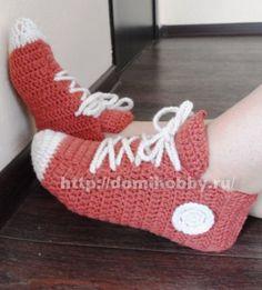 Носки - кеды крючком