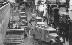 Cangallo y Cerrito Street View, 1930s, Antigua, Cities, Argentina, Fotografia, Pictures