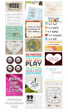 kind over matter: A Nice Thing To Do : Positive Printables VIII
