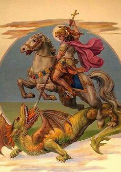 São Jorge hát igen mély harc a gonosz ellen