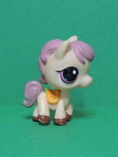 #1512 cheval poney pony horse / LPS Littlest Pet Shop Figurine 2007 Cream Pink