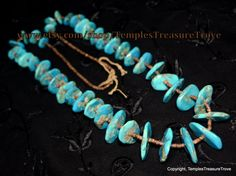 Fabulous Old Pawn Traditional Mid Century Navajo Hand cut Kingman Turquoise and Pinshell Heishi Unisex Necklace strung on natural fibers by TemplesTreasureTrove #Treasured @ https://www.etsy.com/treasury/NTQyNzQ0MTZ8MjcyNzc3Nzc3NA/etsy-finds77