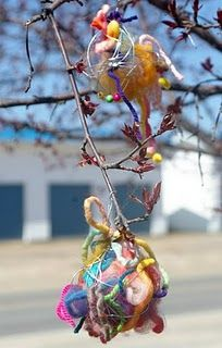 Birds Nest Balls - DIY a gift for the birds with left over lint, yarns, threads,etc. the birds will love it!