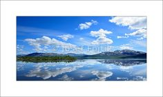 Fine Art Photography Print on a high-end photo paper - Överuman Lake on the Norway - Sweden border