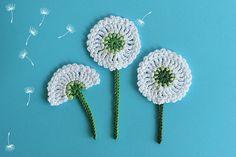 Crochet PATTERN Dandelion flower applique by TomToy on Etsy