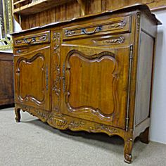 French Antique Louis XV Style Walnut Buffet