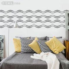 Cirque Border Stencil - Buy reusable wall stencils online at The Stencil Studio