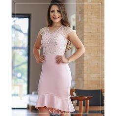 Vestido sino rosé c/ tule floral