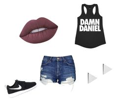 """Sin título #9"" by ximena-lozano-1 on Polyvore featuring moda, Topshop, Lime Crime, Jennifer Meyer Jewelry y NIKE"