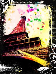 Artistic picture of Eiffel Tower! :)
