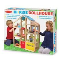 The Melissa & Doug Hi-Rise Dollhouse is the center for all of your child's imaginative play. With a variety of interactive areas in bright colors and patterns, this dollhouse comes with play people for endless pretend-play fun. Wooden Dollhouse, Wooden Dolls, Dollhouse Furniture, Dollhouse Toys, X 23, Polly Pocket, Reborn Toddler Dolls, Baby Dolls, Reborn Dolls