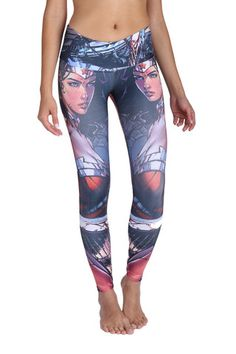 Wonder Woman Icon Leggings Be the Icon that Wonder Woman is! - Wide waist band - Soft, stretchy and amazingly comfortable for WOD workouts, Running, Yoga or Spin - Four Way Stretch Polyester, Crossfit Clothes, Crossfit Gear, Crossfit Gifts, Workout Clothing, Superhero Leggings, Workout Capris, Workout Gear, Workouts, Workout Leggings