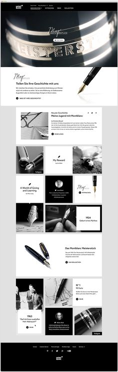 Montblanc My Meisterstueck on Web Design Served