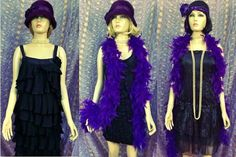Some of the costumes from our hire company - flapper style, great for splurging! Costume Hire, Costumes, Bugsy Malone, Stage Show, Flapper Style, Showgirls, Fur Coat, Suits, Jackets