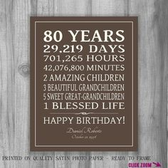Image Result For Ideas 80 Year Old Birthday Party