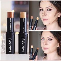 Farm-Contour Stick Dm for information and order . Drugstore Contour Stick, Drugstore Eyeliner Liquid, How To Apply Eyeliner, Contour Makeup, Contouring And Highlighting, Drugstore Makeup, Eye Makeup, Drugstore Contouring, Everyday Eyeliner