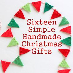 Diary of a Quilter - a quilt blog: 16 Simple Handmade Christmas Gift tutorials