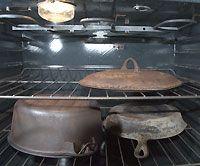 Refurbish Cast Iron: Step 1 - Photo by Rhoda Peacher (HobbyFarms.com)