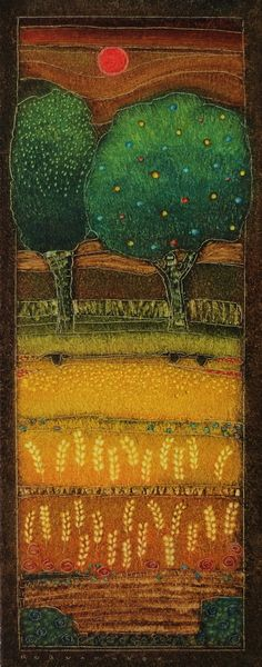 Rob van Hoek - 2013-073 - The setting sun - 50x20cm