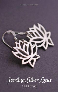 Such pretty lotus earrings.