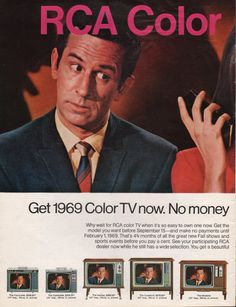 1968 RCA Color Television print ad features Get Smart