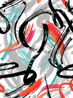 Artistic Brush Strokes - Abstract Layers by Soho Textile Design Seamless Repeat  Royalty-Free Stock Pattern