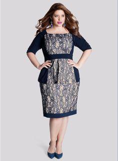 Nico Plus Size Skirt in Midnight Sahara - Celebrate in Style by IGIGI
