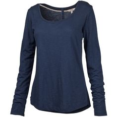 Fat Face Ella Long Sleeve T-Shirt , Indigo ($30) ❤ liked on Polyvore featuring tops, t-shirts, indigo, blue long sleeve t shirt, indigo t shirt, scoop neck top, blue t shirt and longsleeve t shirts